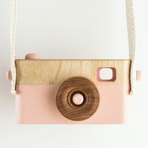 Appareil Photo en bois rose