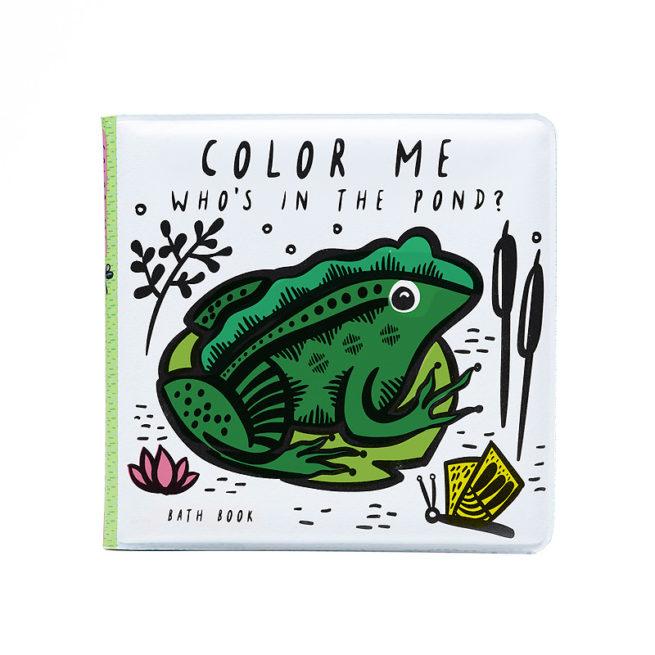 Livre de bain à colorier Etang