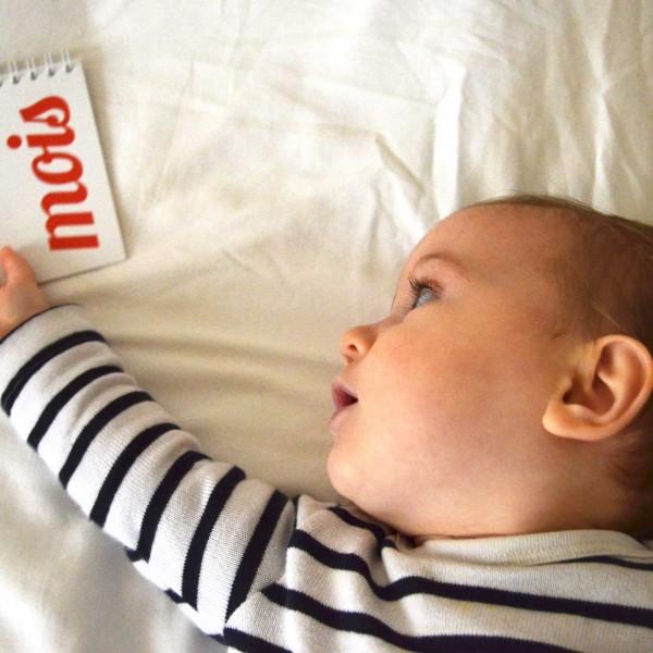 calendrier bébé moi par mois Capucine
