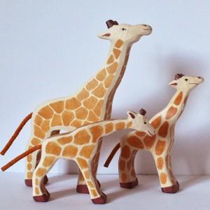 animaux en bois : les Girafes