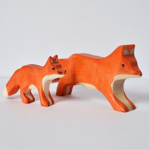 Animaux en bois : les Renards