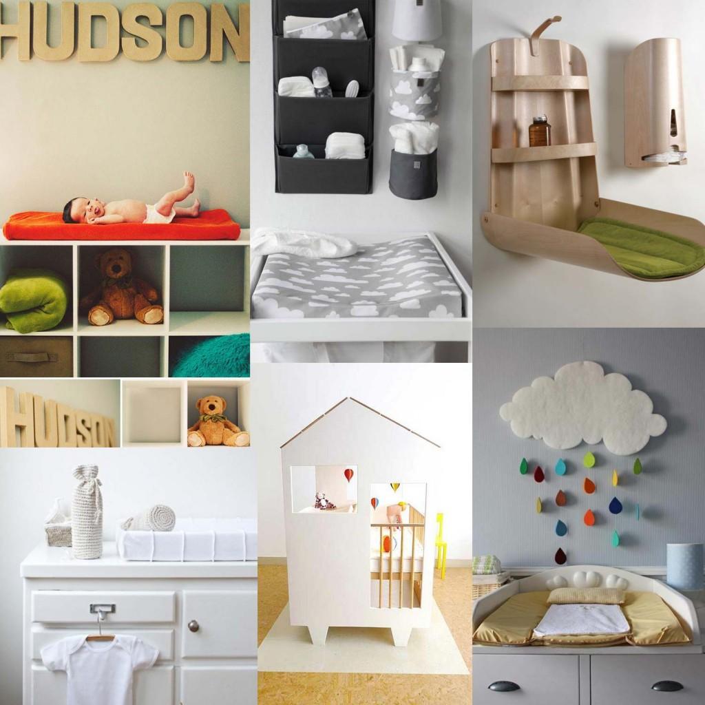 inspirations pour organiser et d corer sa table langer. Black Bedroom Furniture Sets. Home Design Ideas