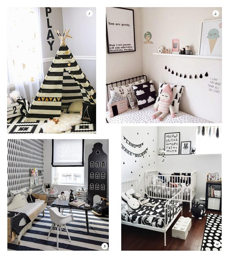 chambre en noir et blanc : inspirations