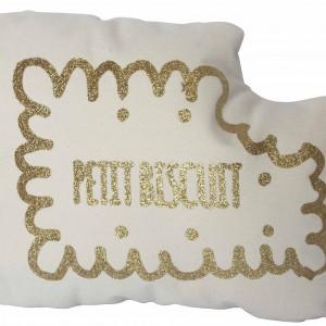 Coussin Petit Biscuit Doré
