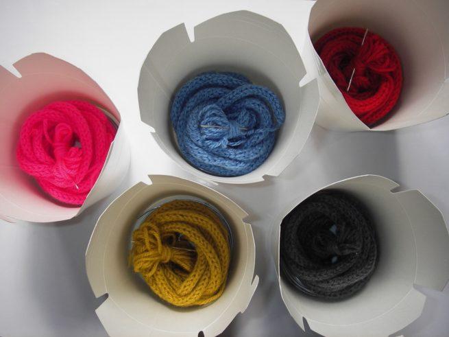 Kit tricotin - boites couleurs
