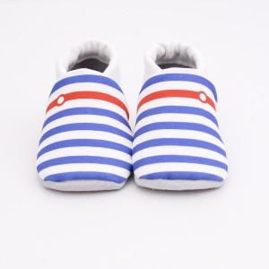 chaussons bébé navy face