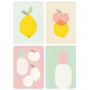 4 Cartes fruits Zu