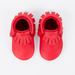 Mocassins bébé rouges