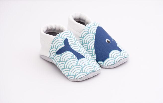chaussons bébé baleine 3