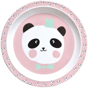 Assiette plate rose