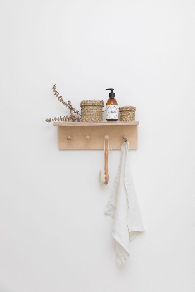 étagère en bois éco conçue