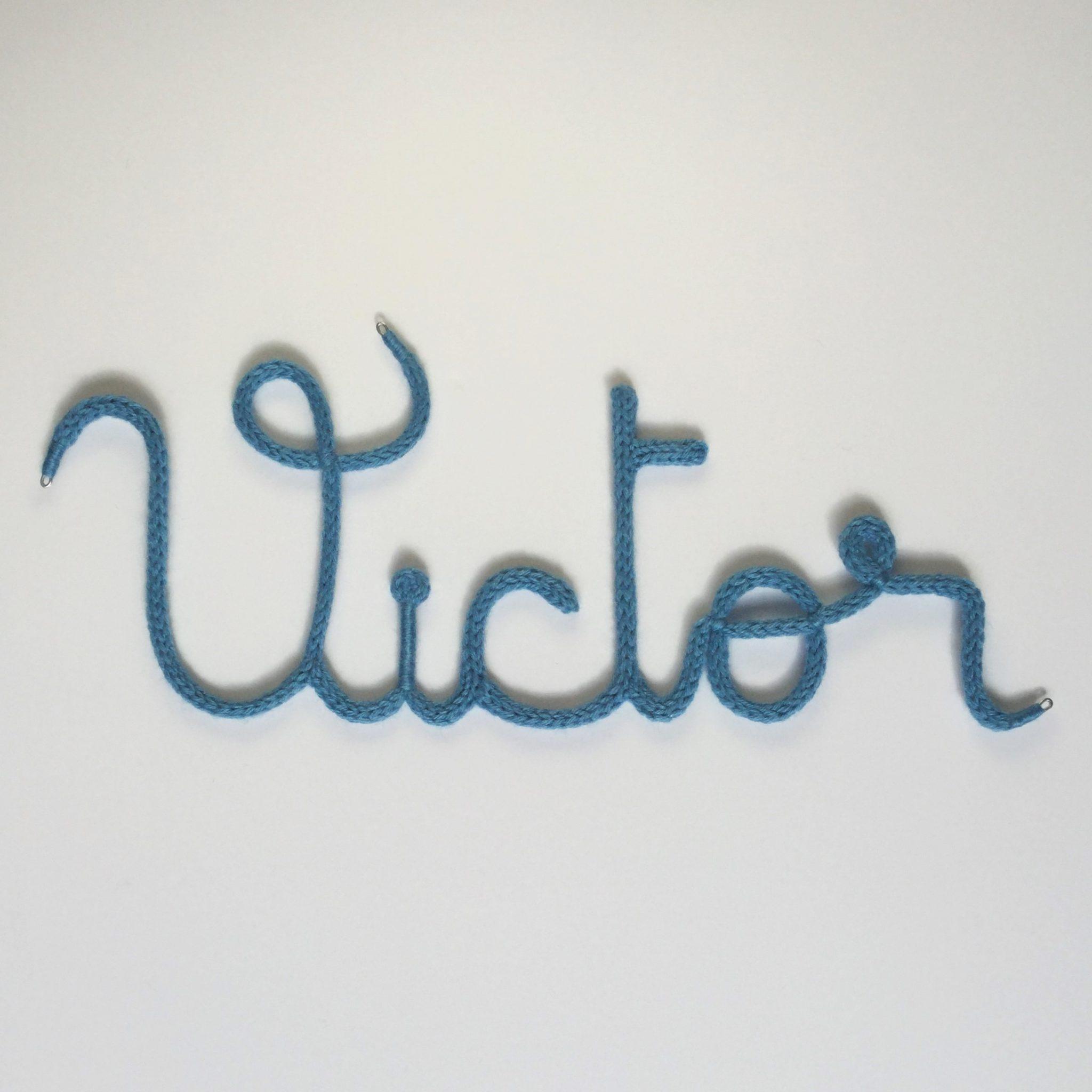 Prénom tricotin Victor