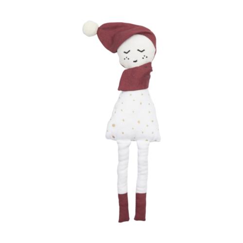 Petit Doudou Hochet Lutin de Noël