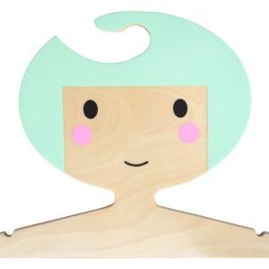 Cintre enfant cheveux menthe